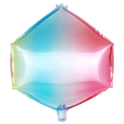 3Dфигура циркон диагональ 50 см нежная радуга (градиент) воздух 130 р., гелий 245 р.