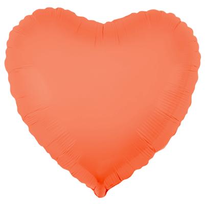 Сердце 40 см персиковый неон воздух 65 р., гелий 105 р.