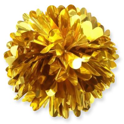 Фольгированный помпон Золото 20 см 75 р.