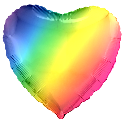 Сердце радуга 45 см (градиент) воздух 65 р., гелий 110 р.