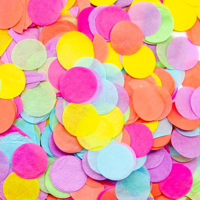 Конфетти бумага тишью Круги Разноцветный микс 2,5 см для наполнения шаров.