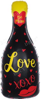 """Бутылка шампанского""""Love"""" воздух 80 р., гелий 140 р."""