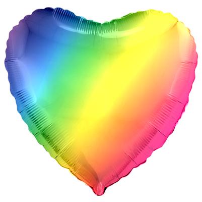 Сердце 40 см радужный градиент (пр-ва Китай Falali) воздух 65 р., гелий 105 р.