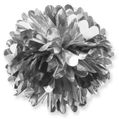 Фольгированный помпон Серебро 20 см 75 р.