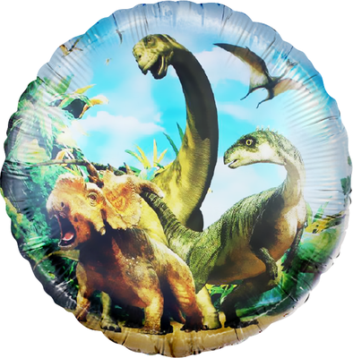 """Круг """"Динозавры Юрского периода"""" воздух 40 р., гелий 90 р."""
