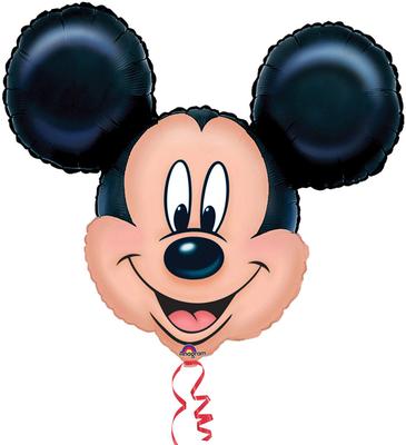 Голова Микки Воздух 330 р., гелий (61 х 45 см) 400 р., гелий (69 х 53 см)  440 р.