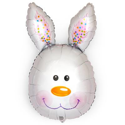 Голова зайца белая выс.70 см воздух 300 р., гелий 400 р.