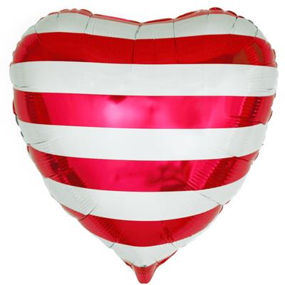 Сердце красные полосы воздух 120 р., гелий 170 р.