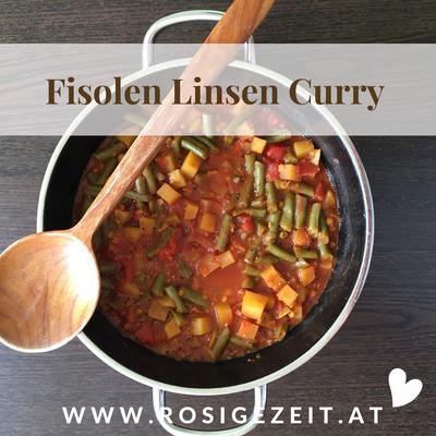 Fisolen Linsen Curry