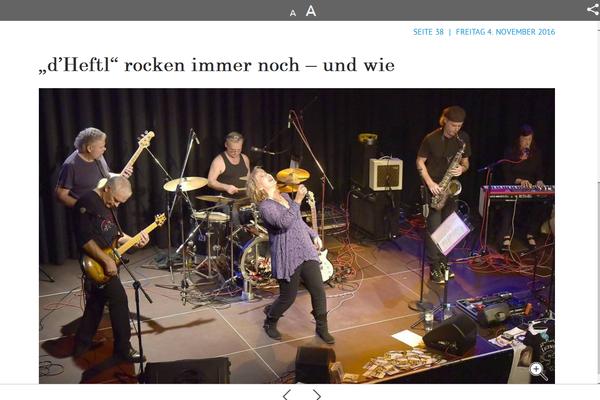 Pressefoto 1000 Heftl live im Jakobmayer in Dorfen am 28.10.2016, Erdinger Anzeiger