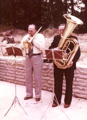 Karl Friedrich aus Bansin mit Helmut Neumann aus Wolgast