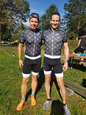 Christian und Marc nach dem Zieleinlauf