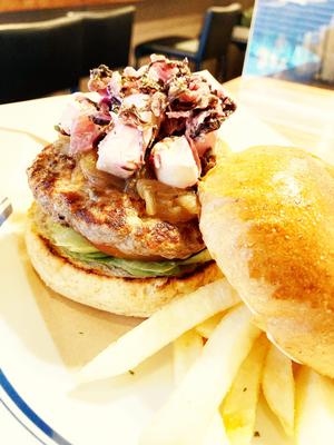 安芸紫×クリームチーズburger