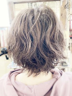 50代 主婦 くせ毛カット・カラー