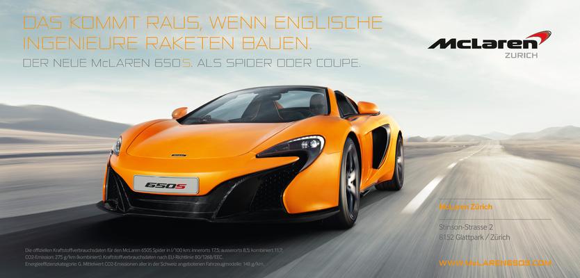 In Zürich am Start: der McLaren 650S