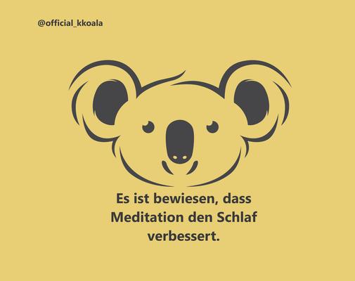 Es ist bewiesen, dass Meditation den Schlaf verbessert.