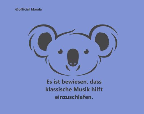 Es ist bewiesen, dass klassische Musik hilft, einzuschlafen.