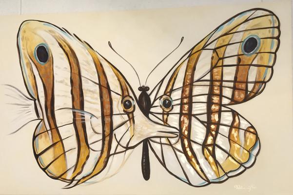 Schmetterlinge, Acryl auf Leinwand. 40 x 60 cm.  100.00€