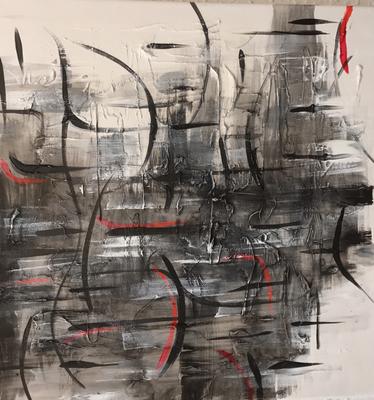 Abstrackt II, Mischtechnik auf Leinwand. 40 x 40 cm. 80.00€