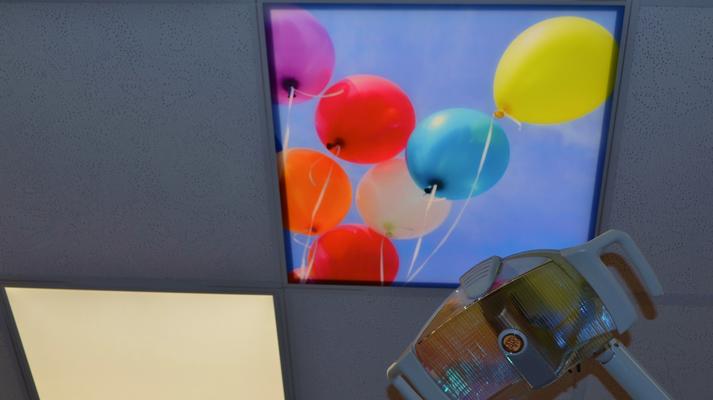 Praxis Dr. Kirchner. Ein beleuchtetes Deckenbild Produkt für ein LED Panel von www.frescovision.info.
