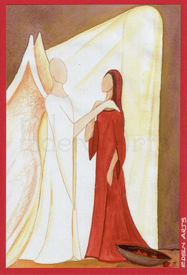 mit persönlicher Signatur 2,50€ Postkarte/ 3€ Doppelkarte auf goldene Pappe geklebt/ liebevolle Handarbeit - Maria