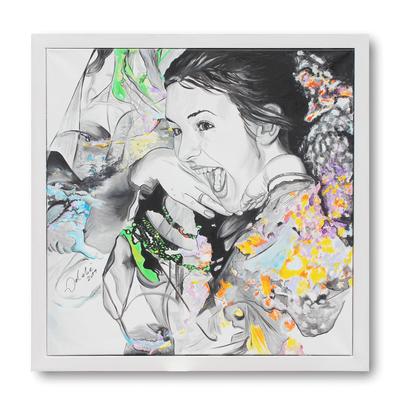 Lebensfreude - 110 x 110 cm - Acryl auf Leinwand - gerahmt