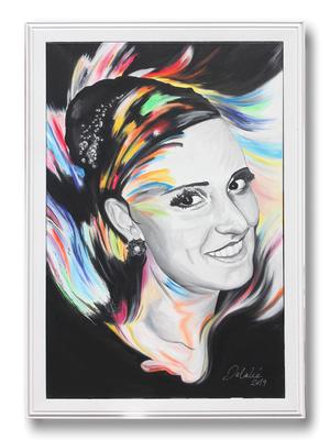 Vollzeitprinzessin - 95 x 135 cm - Acryl auf Leinwand - gerahmt