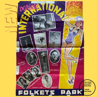 International Variete Poster aus den 1950er Jahren, Malmö