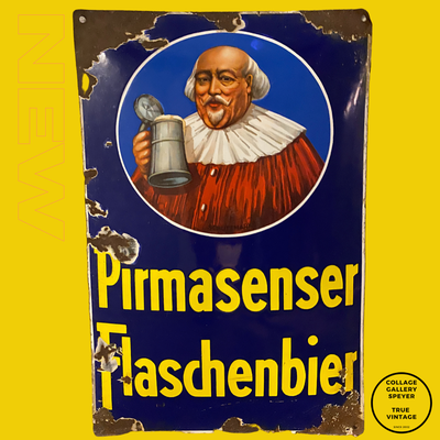 Original Pirmasenser Flaschenbier Emailleschild