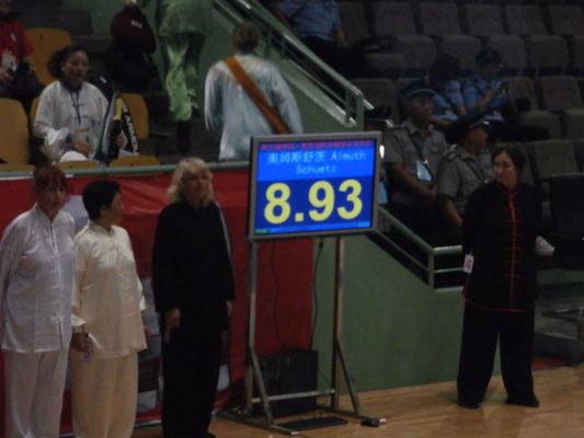 Score beim internationalen Wettkampf in Jiaozuo, China