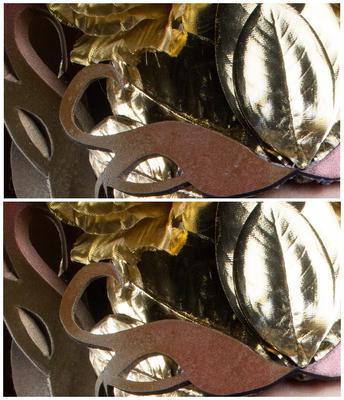 Close-Up Kopfschmuck (noch ohne finalem Bildlook), größte Aufgabe hier: Entfernung der Kleberrückstände