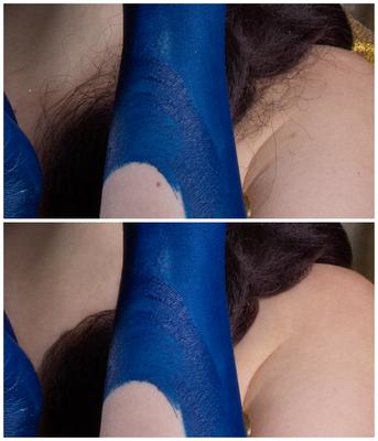 Close-Up Haare & Haut (noch ohne finalem Bildlook)