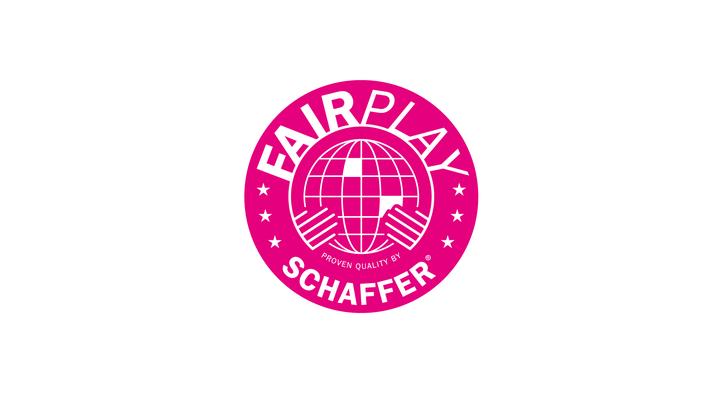 Qualitätssiegel Fair Play für die Rudolf Schaffer Collection by Heckdesign