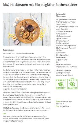 BBQ-Hackbraten mit Sibratsgfäller Bachensteiner