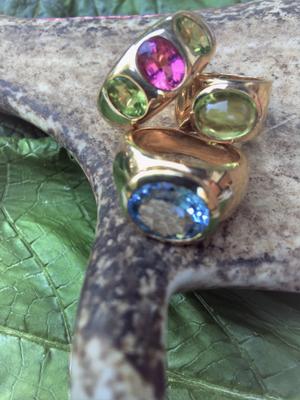 Ringe, Handarbeit, individuell, Gold, Farbsteine, selbst konfigurieren