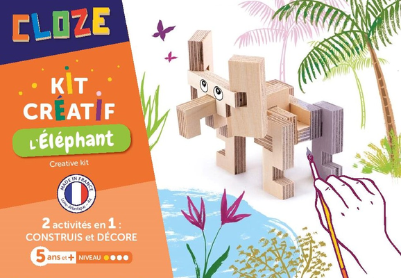 "<FONT size=""5pt"">Kit créatif Eléphant - <B>9,50 €</B> </FONT>"