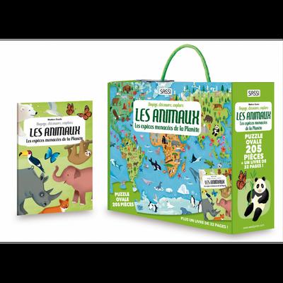 Puzzle + livre 205 P Les Animaux menacés de la planète - 19?90 €