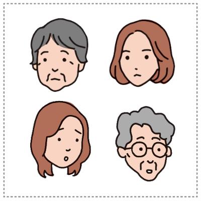 イラスト 女性・顔・アイコン