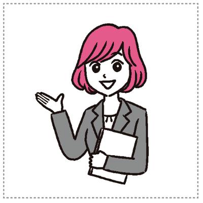 イラスト 女性・英会話