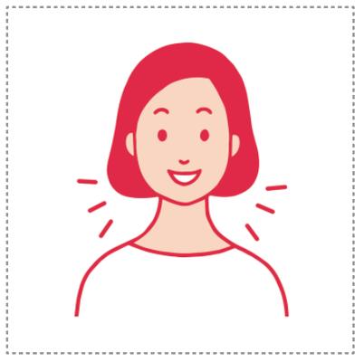 イラスト 鼻炎・女性