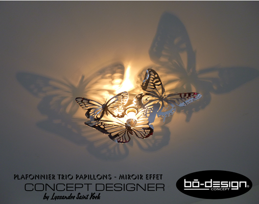 plafonnier design plafonnier papillon
