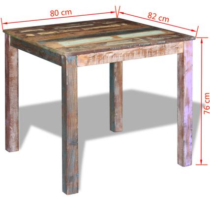 tavolo +legno +riciclato +massiccio +recupero +vintage +80