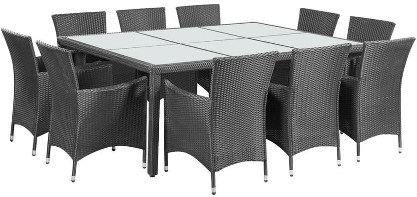 tavolo rattan +polirattan +polyrattan +10 posti +sedie +giardino