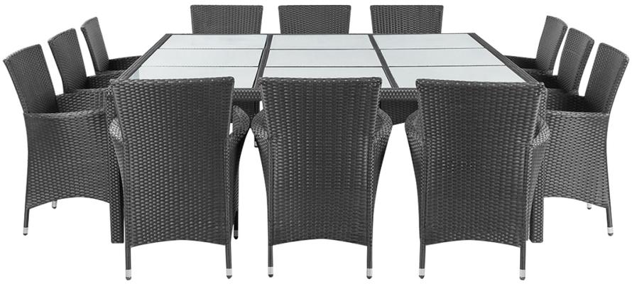 set giardino +tavo +sedie +outdoor +rattan +polyrattan