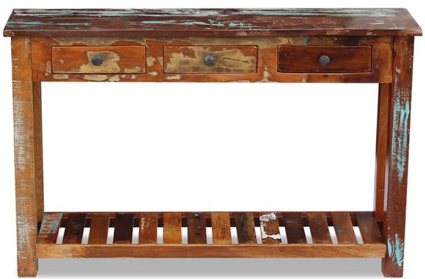 consolle legno riciclato +recupero +tavolo +sandroshop +industrial