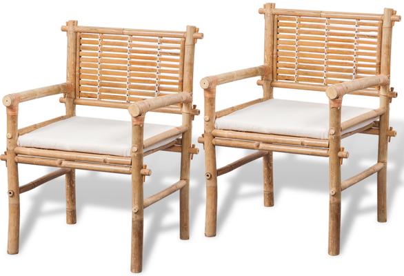 sedie bambù +arredo giardino +mobili esterno
