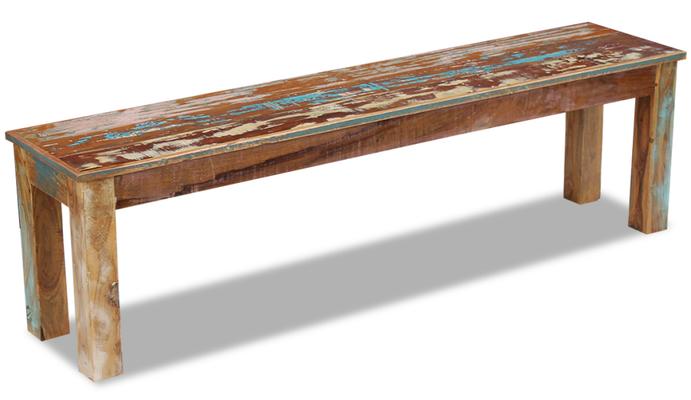 panca legno +riciclato +recupero +sandro shop +vintage +arredo +industriale +arte +povera