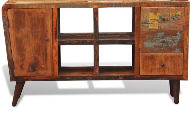 vintage +armadietto +legno riciclato +porta TV +sandroshop