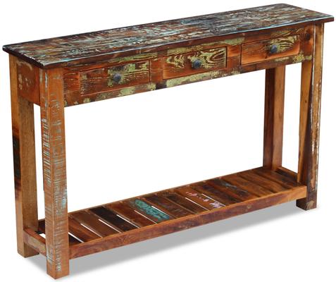 tavolo +legno +riciclato +teak +consolle +sandroshop