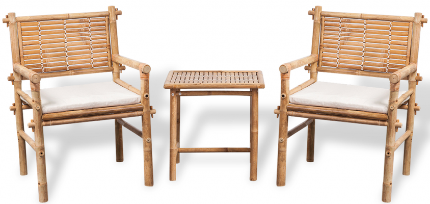 set caffè +bambù +arredo giardino +mobili bambù